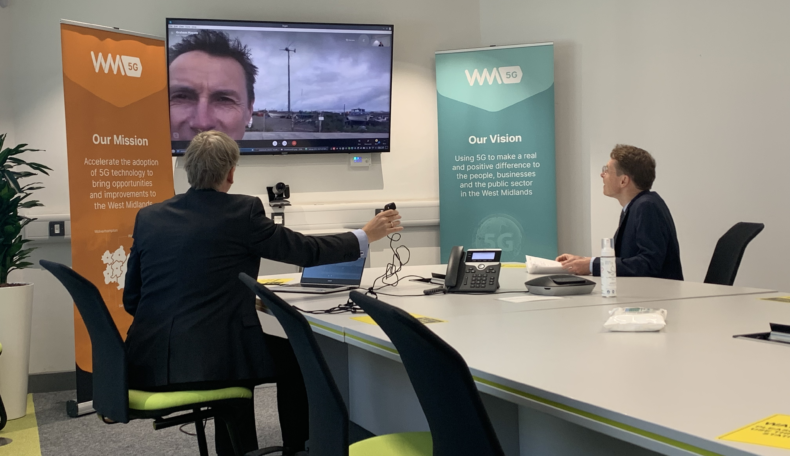 West Midlands wind energy company shows Mayor  how it's cutting carbon by using 5G to control wind turbines remotely